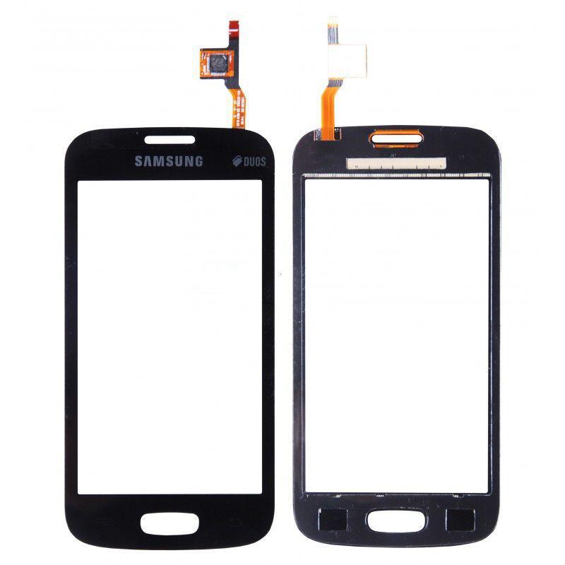 Тачскрин для Samsung S7260 Galaxy Star Plus/S7262, черный, Mist Black Оригинал (тестирован)