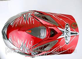 Шлем для мотоцикла Hel-Met 117 кроссовый красный, фото 3