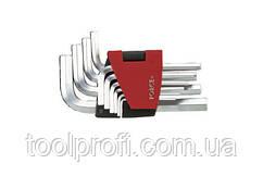 Набор ключей 6-гранных (HEX) Г-образных 10 пр. (1.27-10 мм)