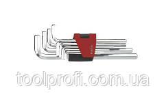 Набор ключей 6-гранных (HEX) Г-образных длинных 10 пр. (1.27-10 мм)