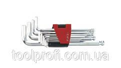 Набор ключей 6-гранных (HEX) Г-образных с шаром длинных 11 пр. (1.5-12 мм)
