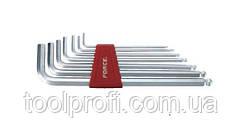 Набор ключей 6-гранных (HEX) Г-образных с шаром экстрадлинных 7 пр. (2.5-10 мм)