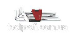 Набор ключей 6-гранных (HEX) Г-образных длинных 11 пр. (1.5-12 мм)