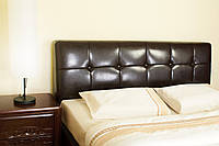 Кровать кожаная - Черная кровать из кожи