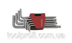 Набор ключей Torx Г-образных с отверстием длинных 9 пр. (Т10Н-Т50Н)