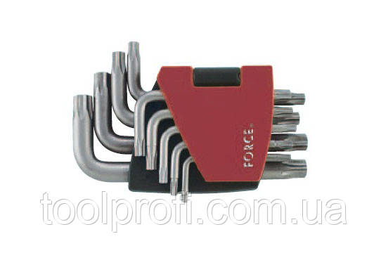 Набор ключей Torx 5-ти лучевых с отверстием Г-образных 9 пр. (TS10-TS50)
