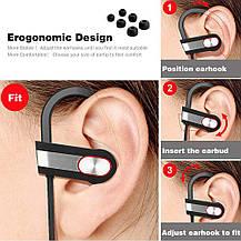 Спортивные Bluetooth наушники с микрофоном, фото 3