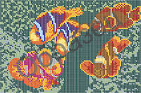 Схема для вышивки бисером - «Рыбки»