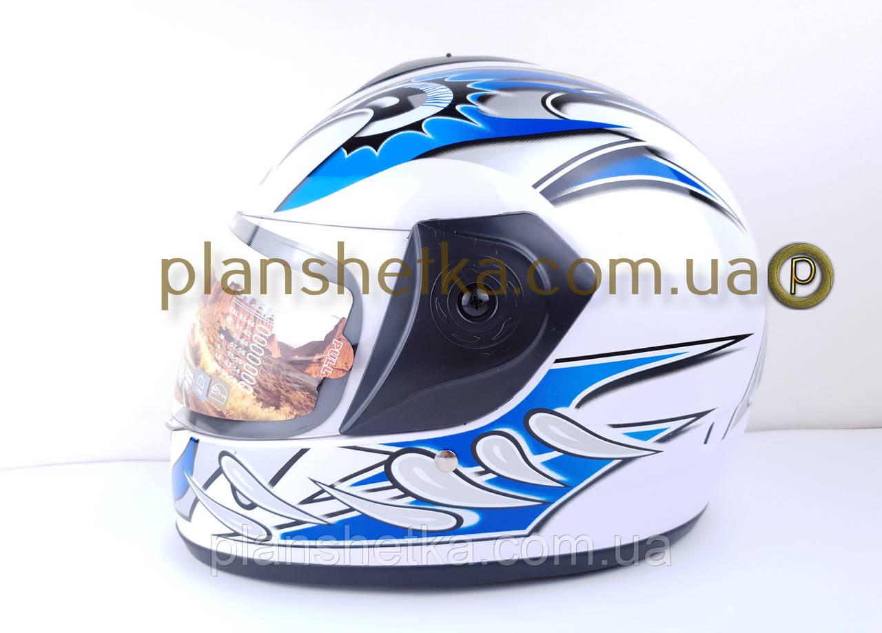 Шоломи для мотоциклів Hel-Met 150 білий з синім