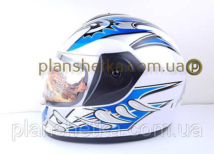 Шоломи для мотоциклів Hel-Met 150 білий з синім, фото 2