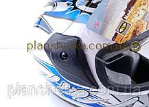 Шоломи для мотоциклів Hel-Met 150 білий з синім, фото 3