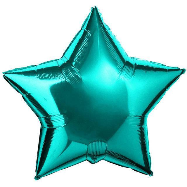 Фольгированный шар Звездочка мятный 45 см