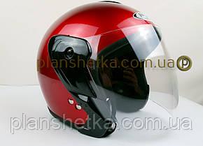 Шлем для мотоцикла Hel-Met 217 красный глянец, фото 2