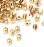 Заклепки, крабики 2,5 мм, золото