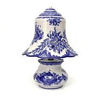 Настольная лампа из керамики Гжель