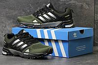 Кроссовки женские темно зеленые Adidas Marathon Flyknit 5607