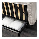 Трехместный раскладной диван IKEA NYHAMN с пенным матрасом Borred светло-бежевый 991.976.39, фото 6