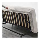 Трехместный раскладной диван IKEA NYHAMN с пенным матрасом Borred светло-бежевый 991.976.39, фото 5