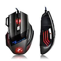 Игровая мышка с подсветкой 5500 dpi - проводная светодиодная мышь 7 кнопок