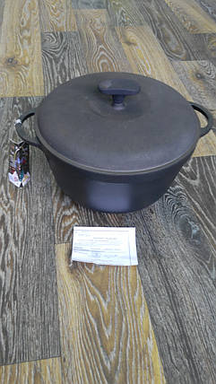 Кастрюля чугун 2 л (с крышкой-сковородой), фото 2