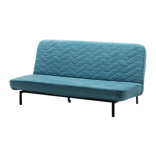 Трехместный раскладной диван IKEA NYHAMN с пружинным матрасом Borred зелено-синий 191.976.57