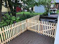 Деревянный декоративный заборчик h-0.7м