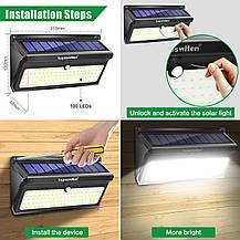 Настенные уличные LED светильники Luposwiten водонепроницаемые на солнечных батареях (2 шт.), фото 3
