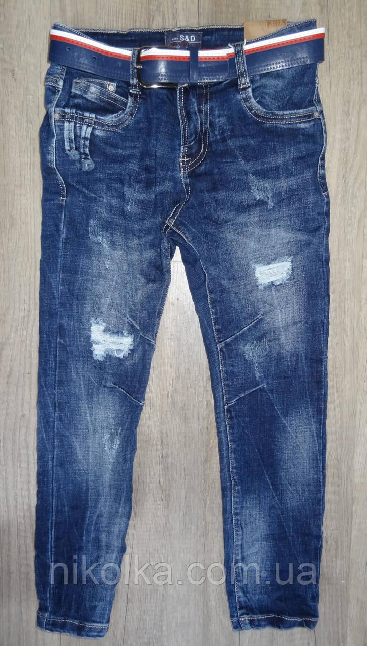 Джинсовые брюки для мальчиков  оптом,S&D ,8-16 лет., арт. DT-1005