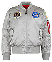 Оригинальный бомбер Alpha Industries Apollo MA-1 Flight Jacket MJM21097C1 (New Silver), фото 1