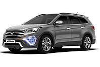 Hyundai Grand Santa Fe - установка ДХО с функцией поворота в ПТФ