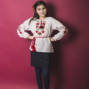 Для девочек вышиванка Роза 146-164см., фото 2