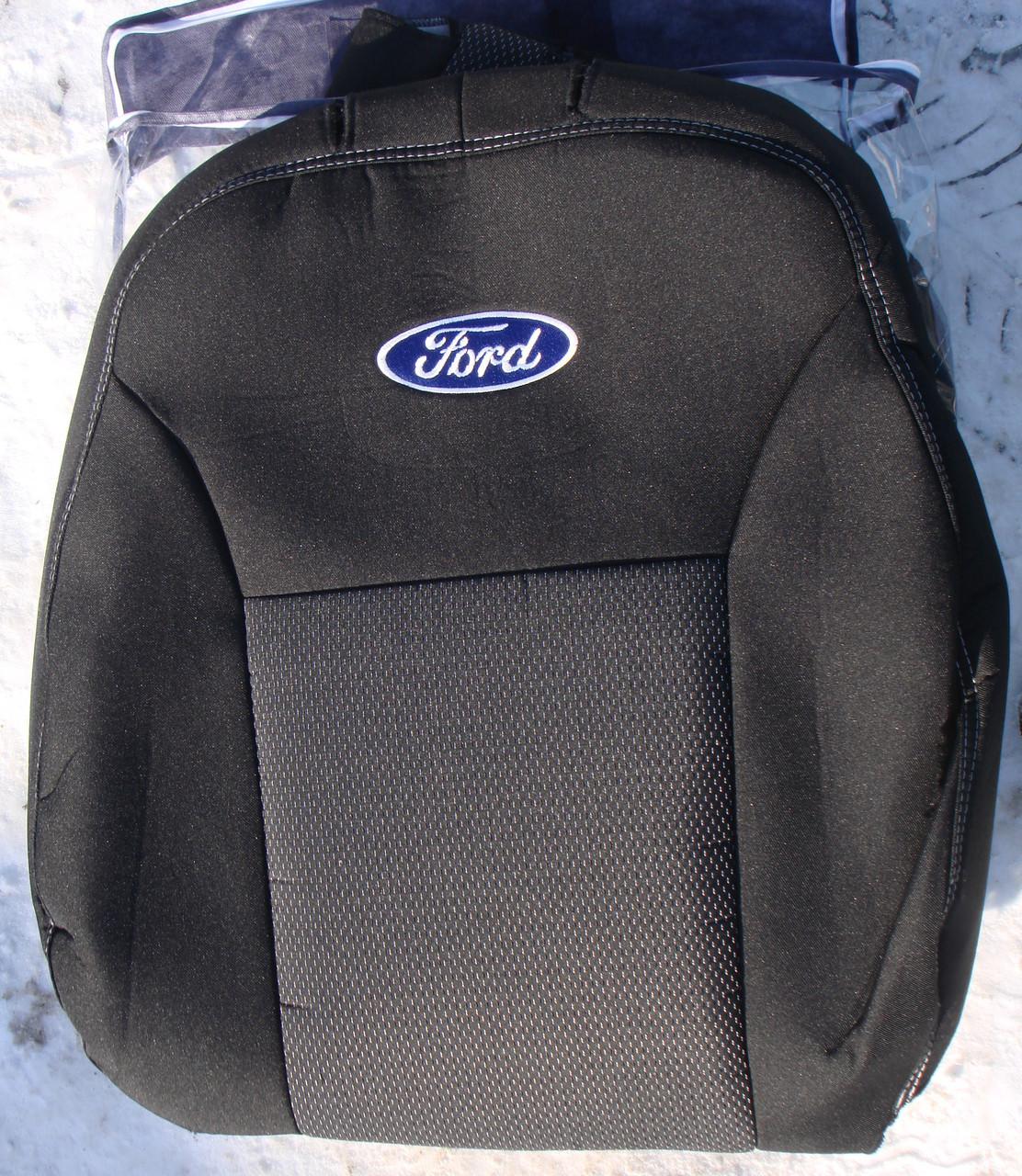 Авточехлы Ford Transit 9 мест c 2006-11 автомобильные модельные чехлы на для сиденья сидений салона FORD Форд Transit