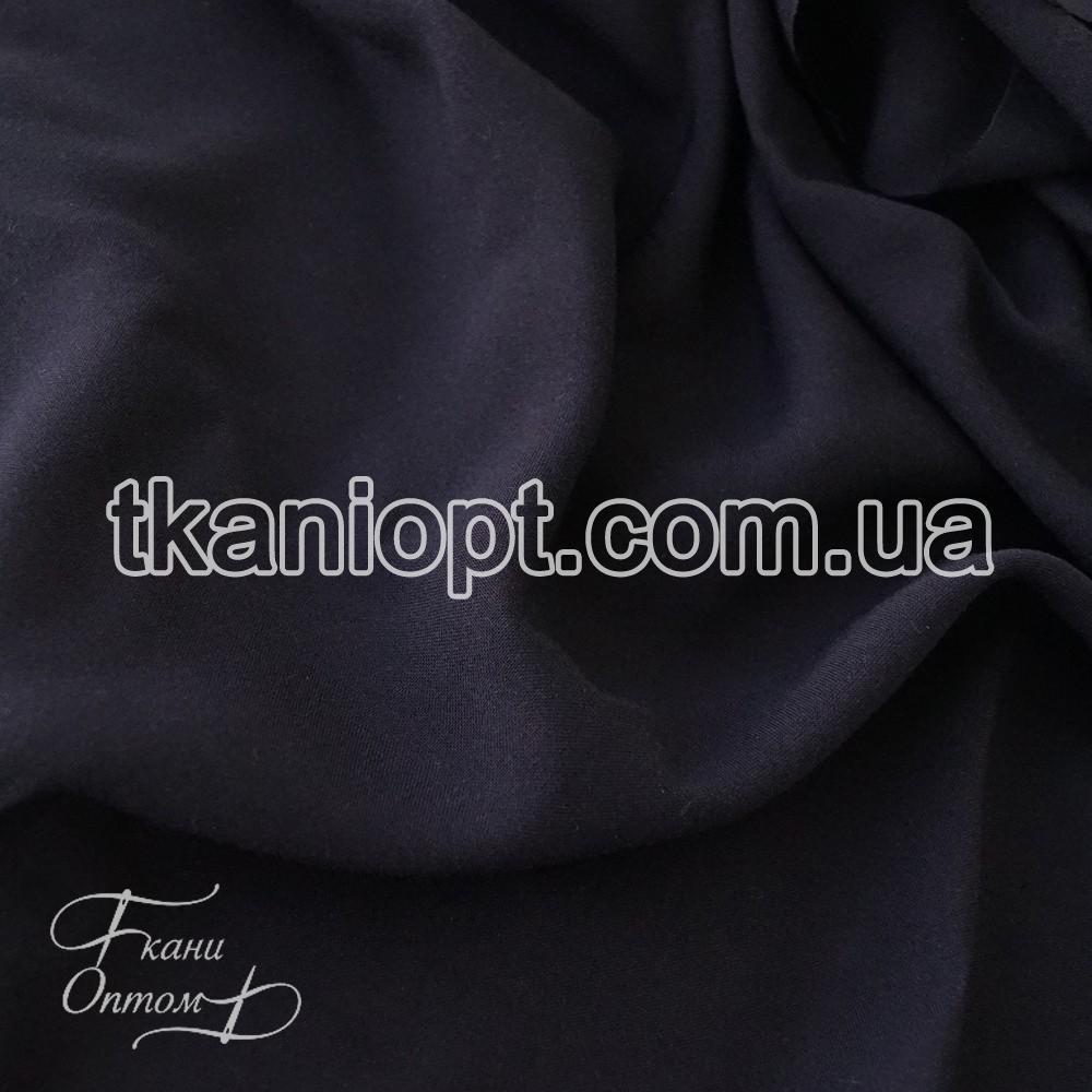 Ткань Штапель однотонный (темно-синий)