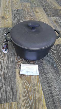 Кастрюля чугун 5.5л (с крышкой), фото 2