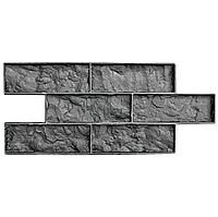 """Полиуретановая форма-штамп """"Колотый кирпич"""" 540*230*15 мм для печати стен и литья плитки"""