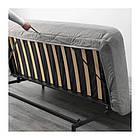 Трехместный раскладной диван IKEA NYHAMN с пружинным матрасом и 3 подушками Knisa серо-бежевый 392.499.24, фото 5