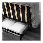 Трехместный раскладной диван IKEA NYHAMN с пружинным матрасом и 3 подушками Knisa серо-бежевый 392.499.24, фото 4