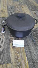 Каструля чавун (з кришкою)10л