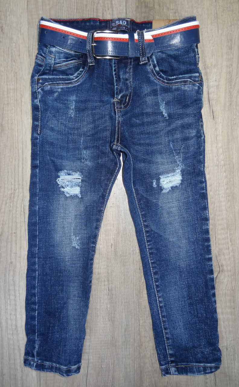 Джинсовые брюки для мальчиков  оптом,S&D ,4-12 лет., арт. DT-1009