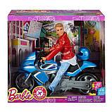 Кен на мотоцикле Розовый Паспорт, фото 2