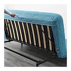 Трехместный раскладной диван IKEA NYHAMN с пенным матрасом и 3 подушками Borred зелено-синий 292.476.71, фото 4