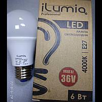 Светодиодная лампа Ilumia низковольтная 6Вт, 36В, Цоколь Е27, 4000К (нейтральный белый), 600Лм