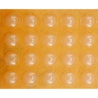 Силиконовые прокладки самоклеящиеся под мебель VOREL, 10мм, набор 20шт