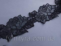 Кружево под кожу отличного качества 9,0см цвет черный