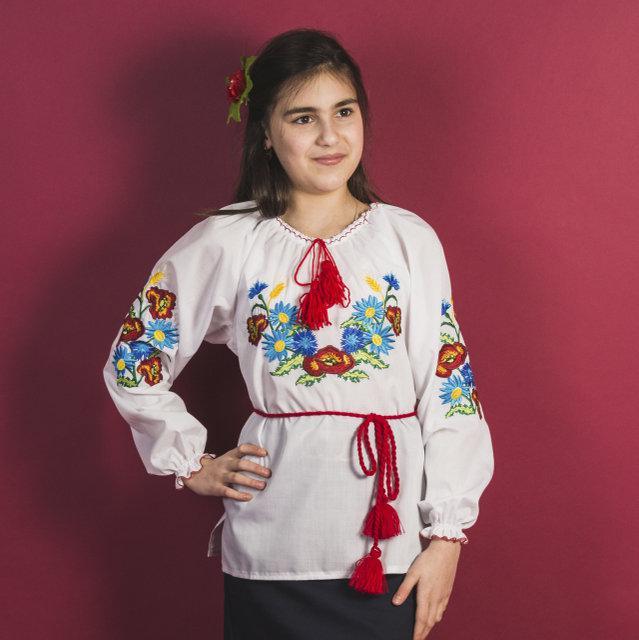Ассорти для девочек блузка вышиванка 116-140 см.