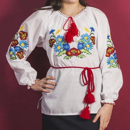 Ассорти для девочек блузка вышиванка 146-164 см., фото 2