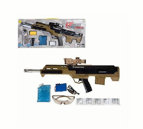 Оружие на гелевых пульках. Автомат, стреляет гелевыми пулями и мягкими, на аккумуляторе, фото 2