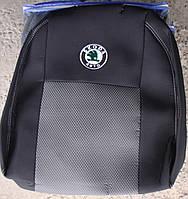 Чехлы на сидения Skoda Fabia (5J) Hatch (цельная) 2007 автомобильные чехлы на для сиденья сидения салона SKODA Шкода Fabia