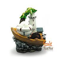 Комнатный мини фонтан Маяк и лодка