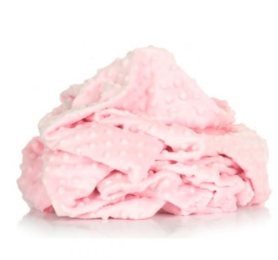Плюшева тканина Minky світло-рожевий (пліт. 380 г/м. кв)